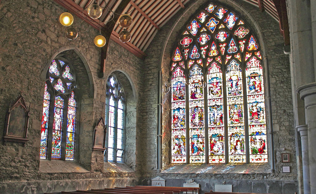 Black Abbey Stained Glass Window